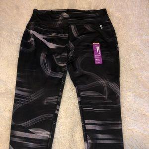 Danskin Pants - Danskin Performance Legging Print Ankle NWT Black